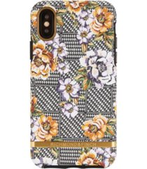 richmond & finch floral tweed case for iphone x and xs