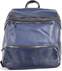 mochila bolsillo alargado azul mailea