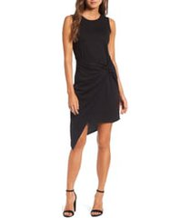 women's chelsea28 twist front dress, size xx-small - black