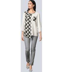 blus alba moda offwhite::grå