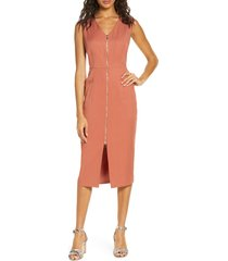 women's forest lily zip front midi dress