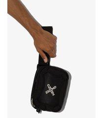 kenzo active logo-print crossbody bag - black