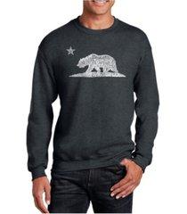 la pop art big & tall men's word art california bear crewneck sweatshirt