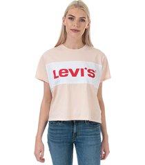 womens colourblock varsity t-shirt
