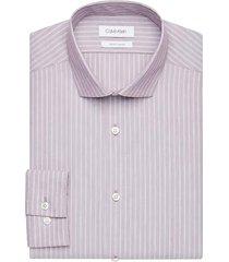 calvin klein men's rosewood stripe slim fit dress shirt - size: 19 34/35