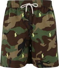 ralph lauren camo print drawstring shorts