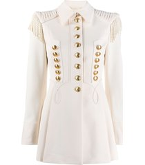 alberta ferretti military jacket - white