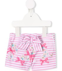miss blumarine bow detail shorts - pink