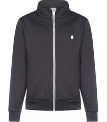 marcelo burlon cross cotton-blend track jacket