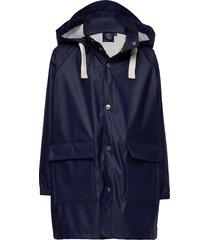k. love print rain jacket outerwear rainwear jackets blå svea