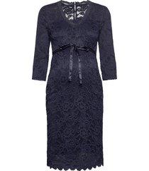 mlmivana 3/4 jersey dress a. noos knälång klänning blå mamalicious