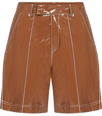 gcds faux patent leather shorts