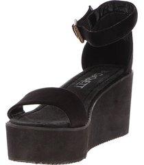 sandalia elegante negra coquett