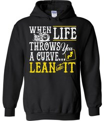 when life throws you a curve lean into it blend hoodie