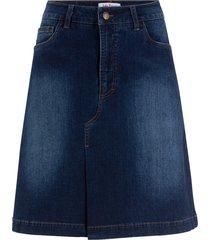 gonna di jeans elasticizzata morbida (blu) - john baner jeanswear