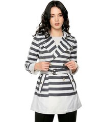 abrigo azul-blanco nautica