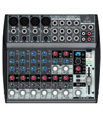 mixer/mesa de som behringer xenyx 1202fx 12 inputs com reverb cinza 110v