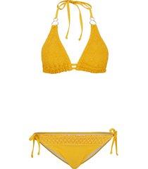 bikini a triangolo (set 2 pezzi) (giallo) - rainbow