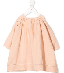 caramel wimbledon buttoned dress - neutrals