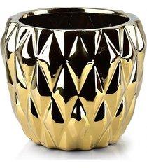 kwietnik osłonka ceramiczna złota