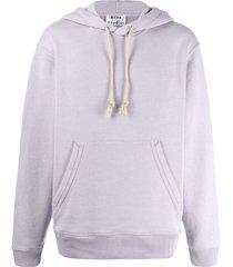 acne studios reverse-label patch hoodie - purple
