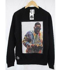 actual fact biggie supreme color money notorious big black sweatshirt top
