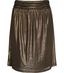 mileycr skirt knälång kjol guld cream