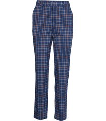 niragz pants ma19 pantalon met rechte pijpen blauw gestuz