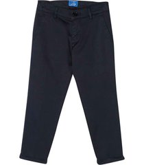 fay blue chino slim trousers