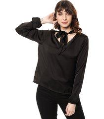 blusa negra felisa anude