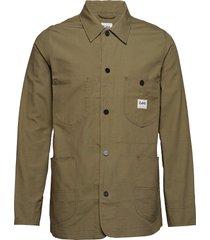logo jacket overshirt groen lee jeans