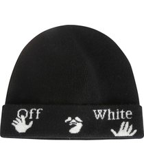 off-white felted wool beanie
