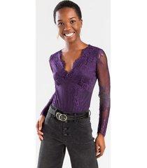 alice lace bodysuit - purple