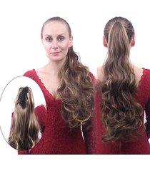 fermaglio per capelli a coda di capelli ricci lunghi con clip a coda di cavallo