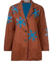 issey miyake pre-owned sun pattern loose jacket - brown