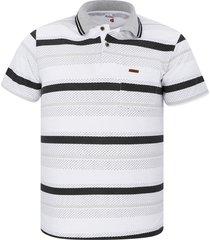 camiseta tipo polo audax con bolsillo gris claro