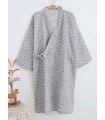 incerun kimono japonés para hombre túnica bata de baño envolvente