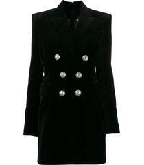 balmain structured shoulders blazer dress - black