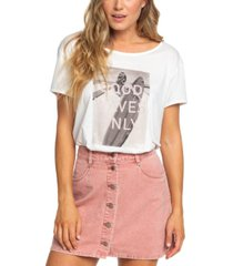 roxy juniors' unforgettable fall cotton corduroy skirt