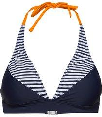 hmlkia swim halterneck bikinitop blå hummel