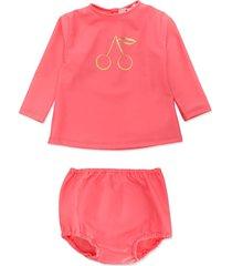 bonpoint cherry-print bikini set - pink