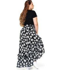 falda larga plus size estampada marca trucco's
