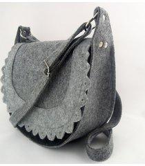 promocja! torebka filcowa - listonoszka na szaro