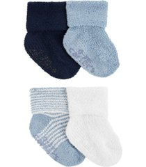 carter's baby boys 4-pack chenille booties