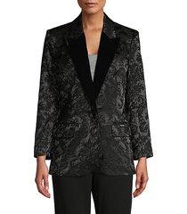 burnout peak-lapel blazer