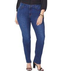 plus size women's nydj marilyn high rise straight leg jeans