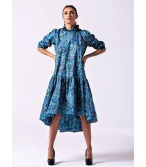 janya asymetryczna bawełniana sukienka
