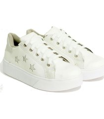 zapatilla blanca valentia calzados brenda star