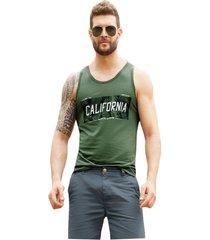 camisilla para hombre verde militar mp