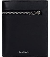 acne studios wallet in black leather
